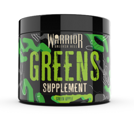 Warrior Greens Powder; 30 Servings; Superfoods Spirulina WheatGrass Blend